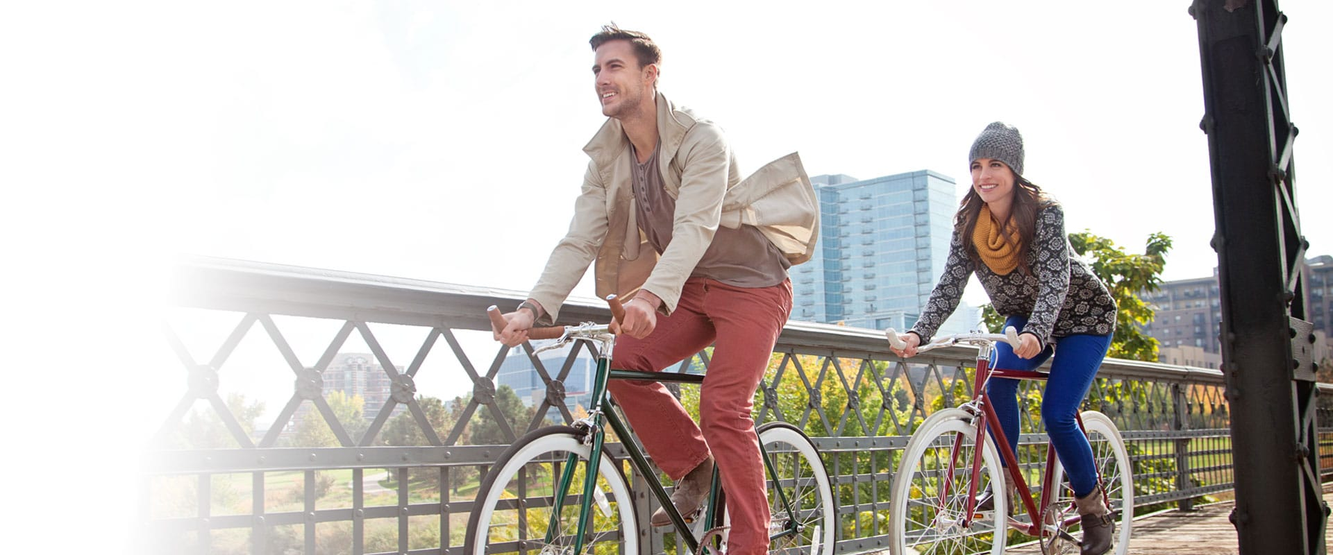 Bike riding at Central Park Orthodontics in Denver, CO